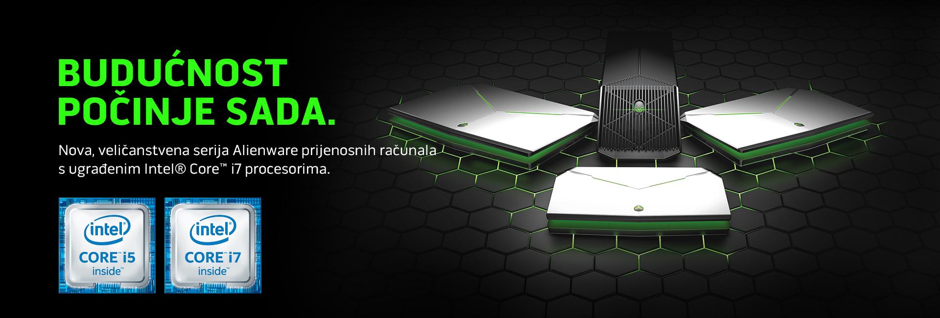 Nova, veličanstvena serija Alienware prijenosnih računala s ugrađenim Intel® Core™ i7 procesorima.